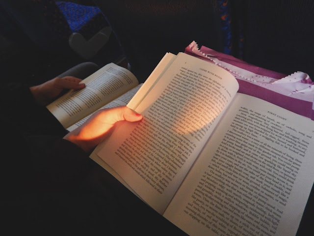 Reading on the bus home