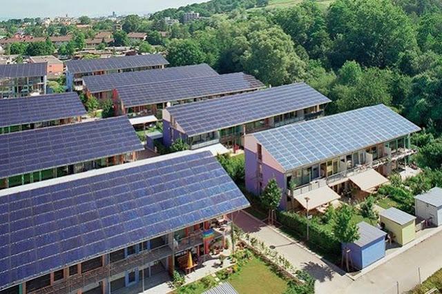 Energía solar, electricidad, luz