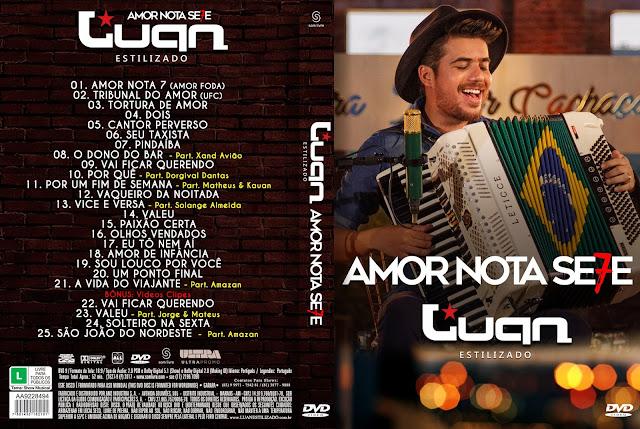 Capa DVD Luan Estilizado Amor Nota Se7e