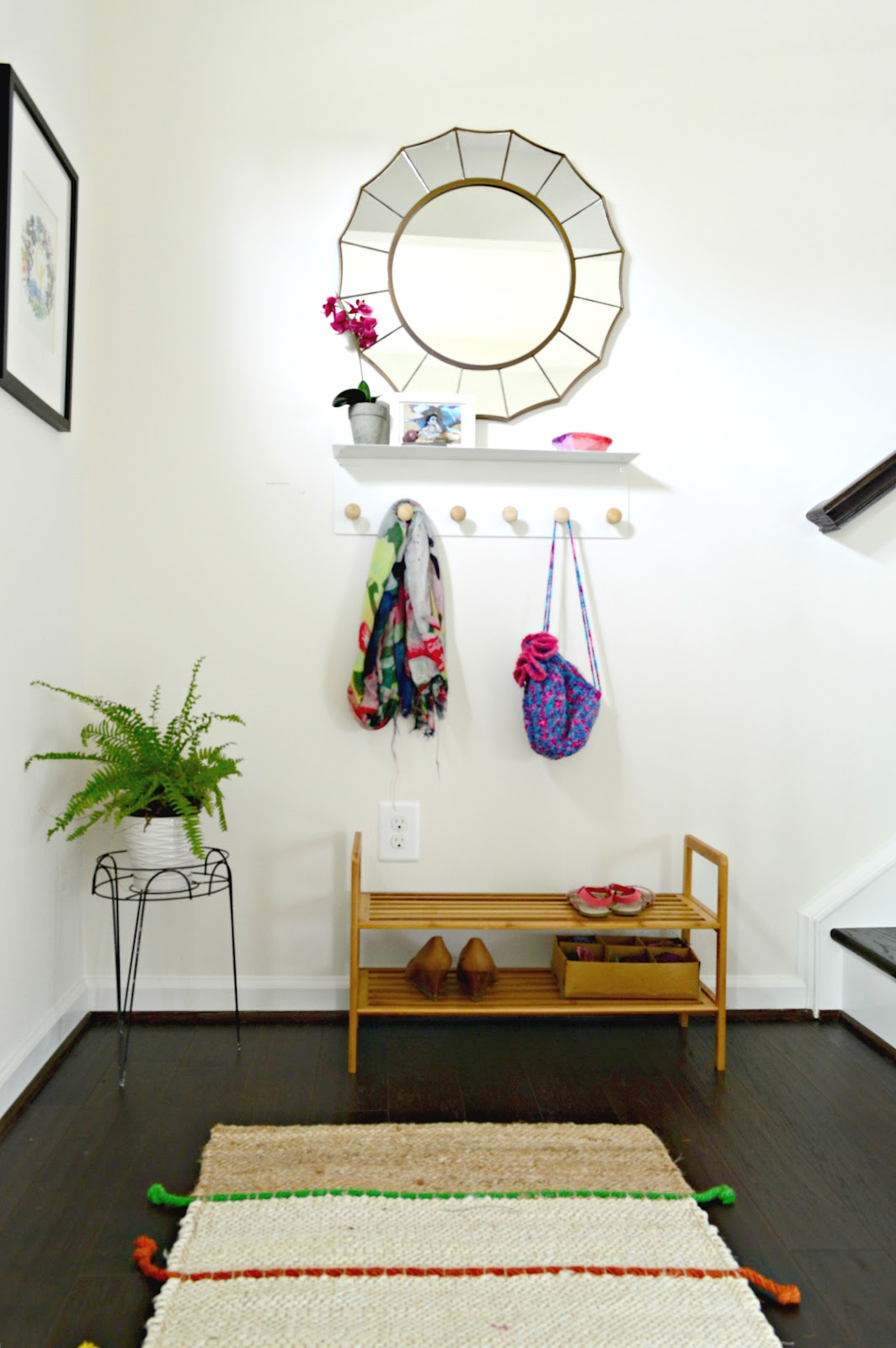 Bright, minimal,functional entryway