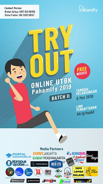 Try Out Online UTBK Pahamify Bacth 2 2019 Umum Gratis