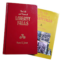 Two books detailing the fictional story of Liberty Falls.