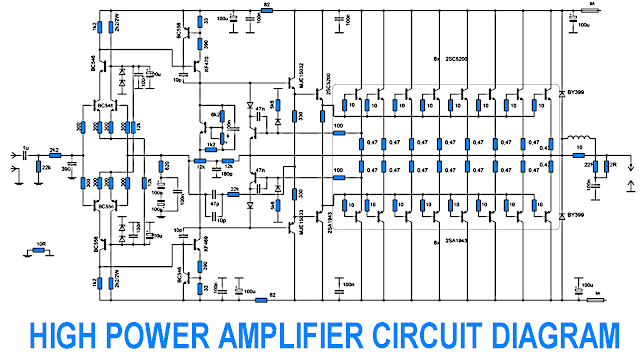 700W Power Amplifier with 2SC5200 2SA1943 Electronic Circuit