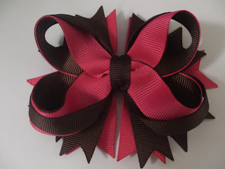 How to make twisted boutique bow with 16mm grosgrain ribbon