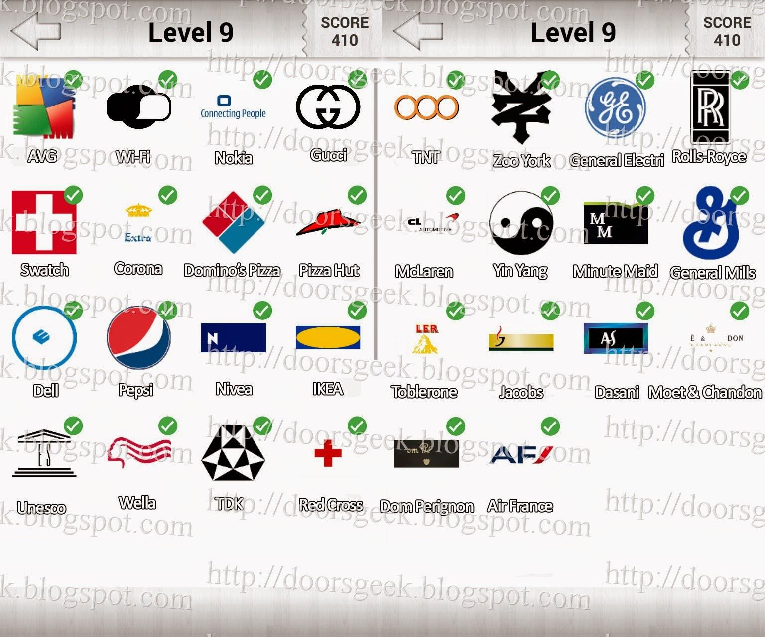 Logo Quiz! Deluxe Level 9 (Candy Logo) ~ Doors Geek