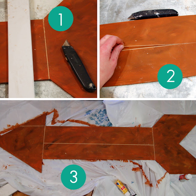 Take the Side Street: DIY Faux Metal Arrow