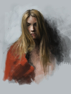 Mujer rubia pintada