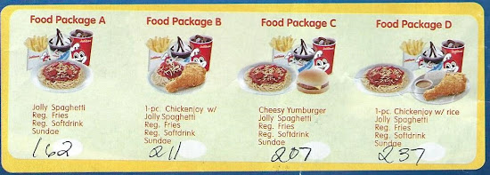 Jollibee Party Food Packages