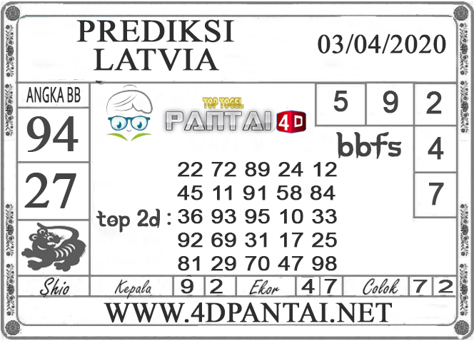 PREDIKSI TOGEL LATVIA PANTAI4D 03 APRIL 2020