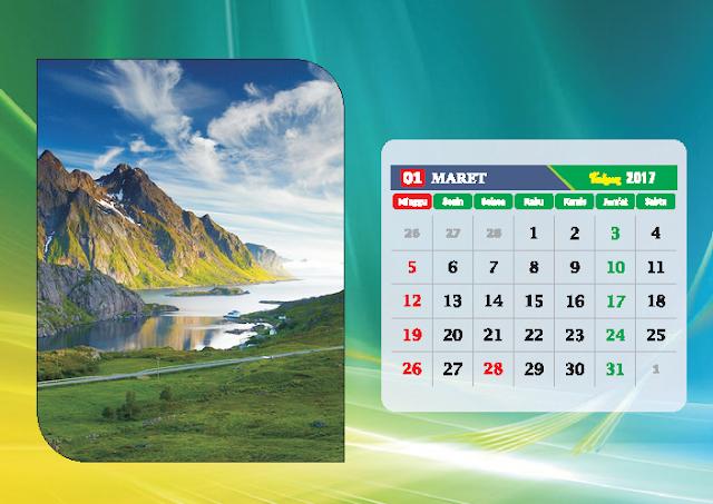 Kalender Bulan Maret 2017