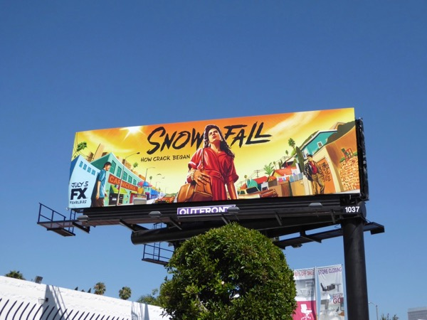 Snowfall season 1 FX billboard