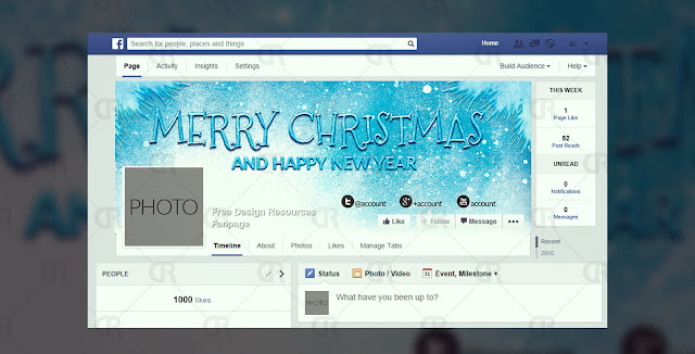 2 Free Christmas Facebook Cover