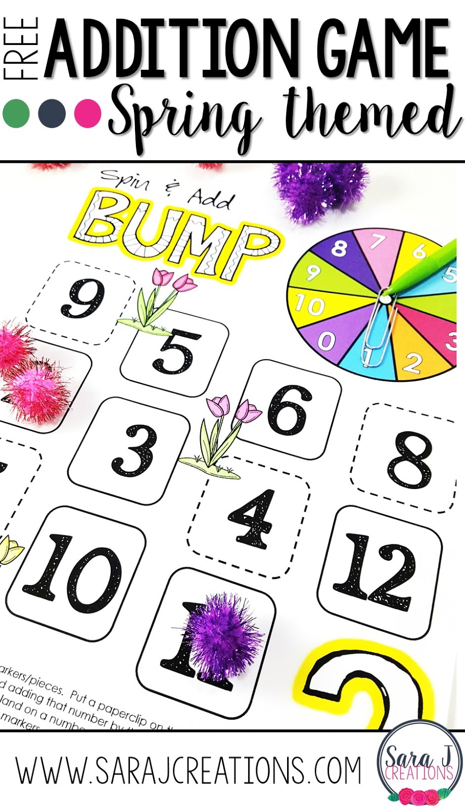 Free addition math game boards for practicing math fact fluency