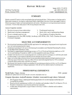 semiconductor sample resume format in word free download