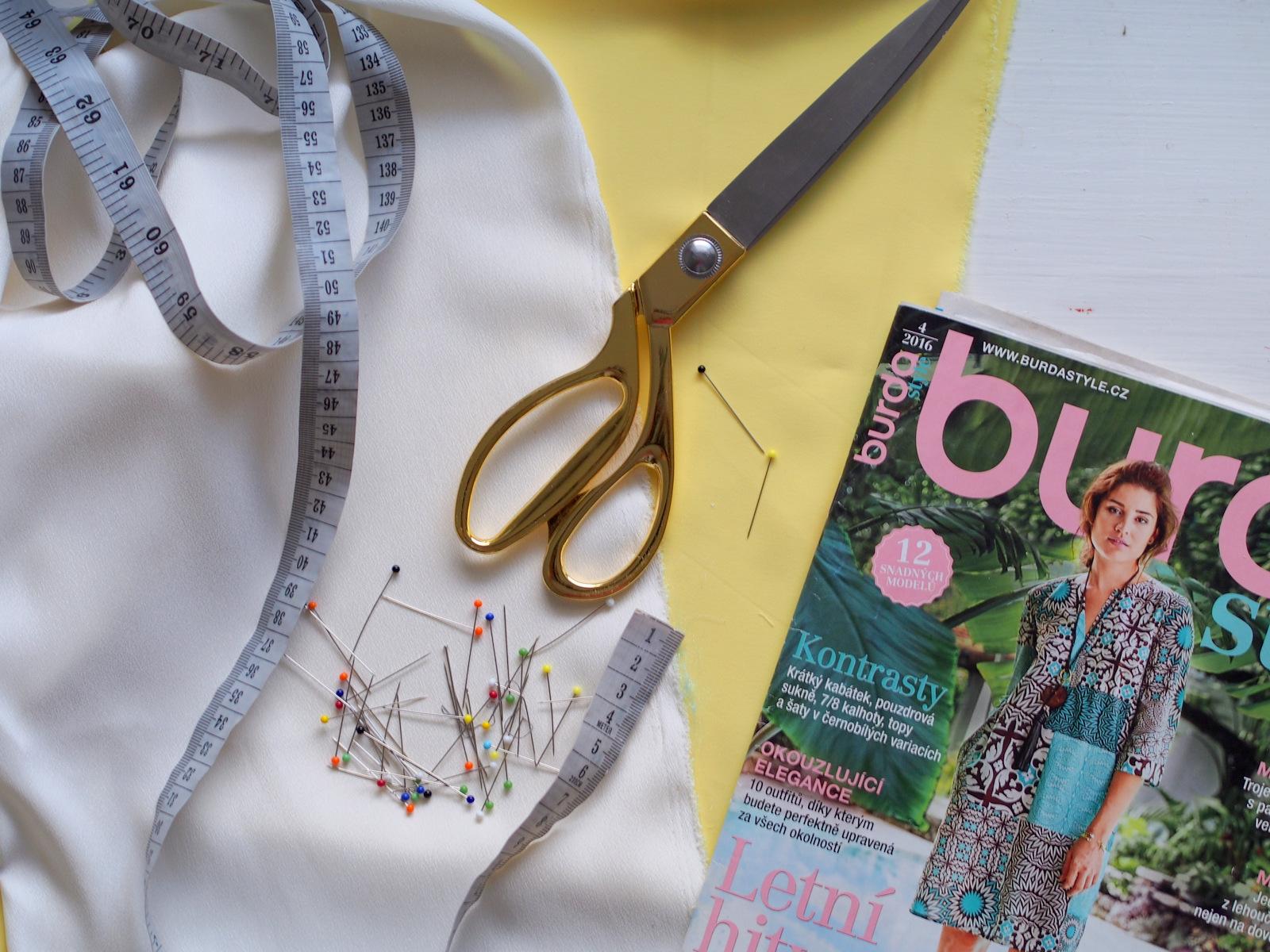 SIY: ako sme šili žltý top s bielym detailom #2