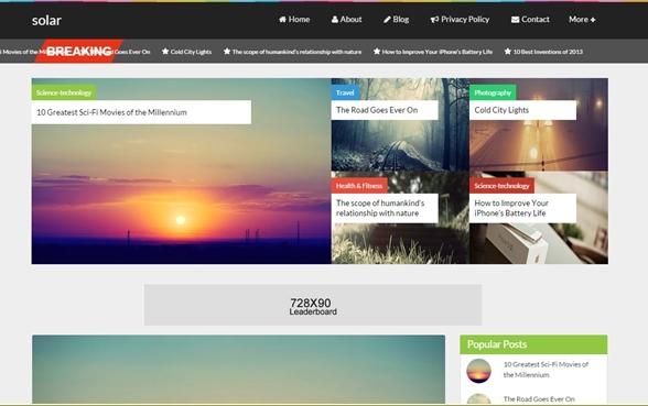 Solar - Free blogger templates