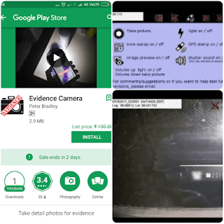 Evidence camera paid app free download here