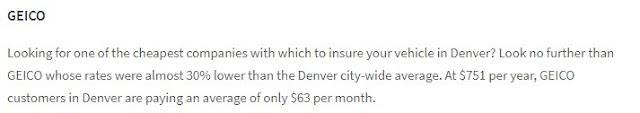 auto insurance quotes denver