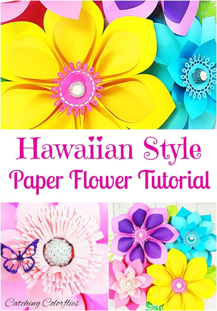 Mama\u0027s Gone Crafty How to Make Giant Hawaiian Paper Flowers