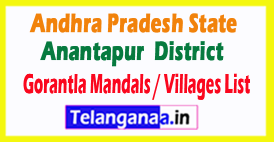 Gorantla Mandal Villages Codes Anantapur District Andhra Pradesh State India