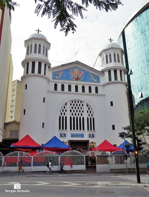 Vista ampla da Igreja Nossa Senhora do Paraíso - Paraíso - São Paulo