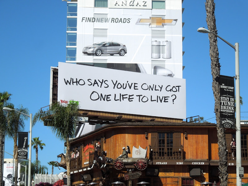One Life To Live teaser billboard Sunset Strip