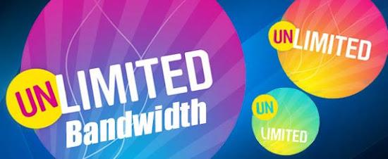 unlimited bandwidth artinya batasan bandwidt tidak ditetapkan
