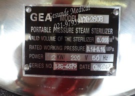 Nameplate Autoclave