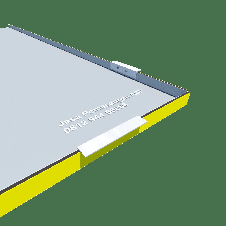 Pemasangan siku aluminium