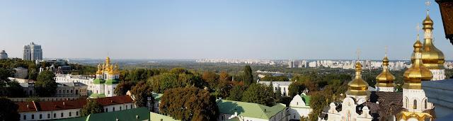 Панорама окрестностей Печерского заповедника