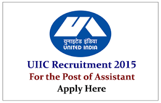 United India Insurance Company Recruitment 2015 for Assistant