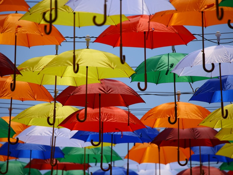 Download Colorful Umbrellas HD wallpaper. Click Visit page Button for More Images.