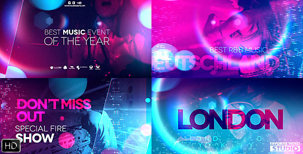 VIDEOHIVE ULTRAVIOLET MUSIC PARTY - Free Download After