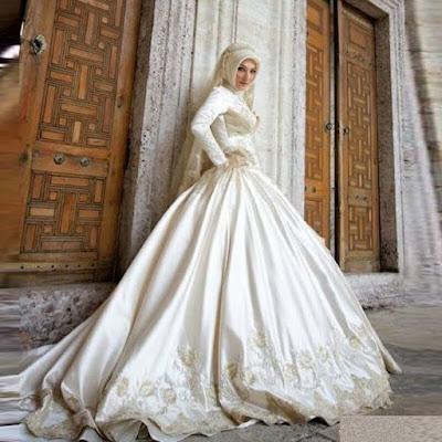 Gaun pengantin variasi drapperies