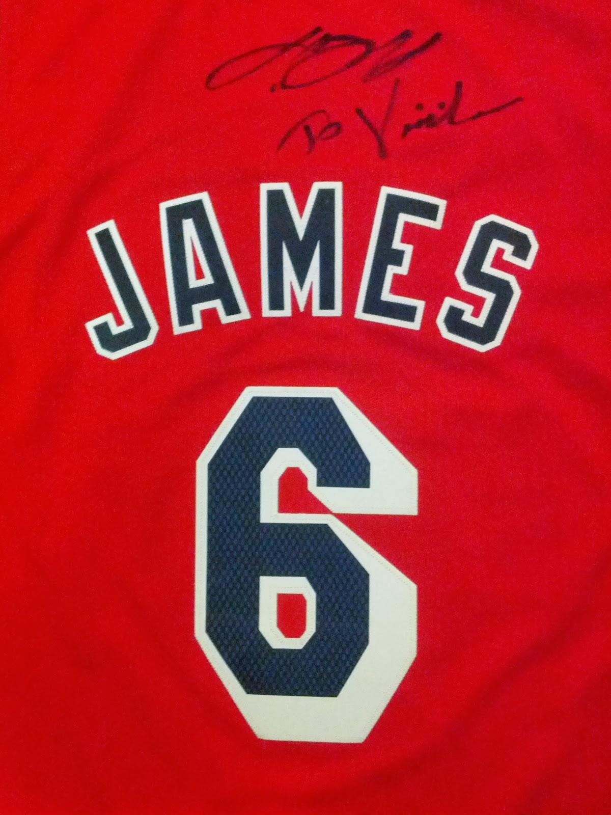9305833d9fb LeBron James Signed Jersey with Dedication - Miami Heat Hardwood Classics  1995-1999