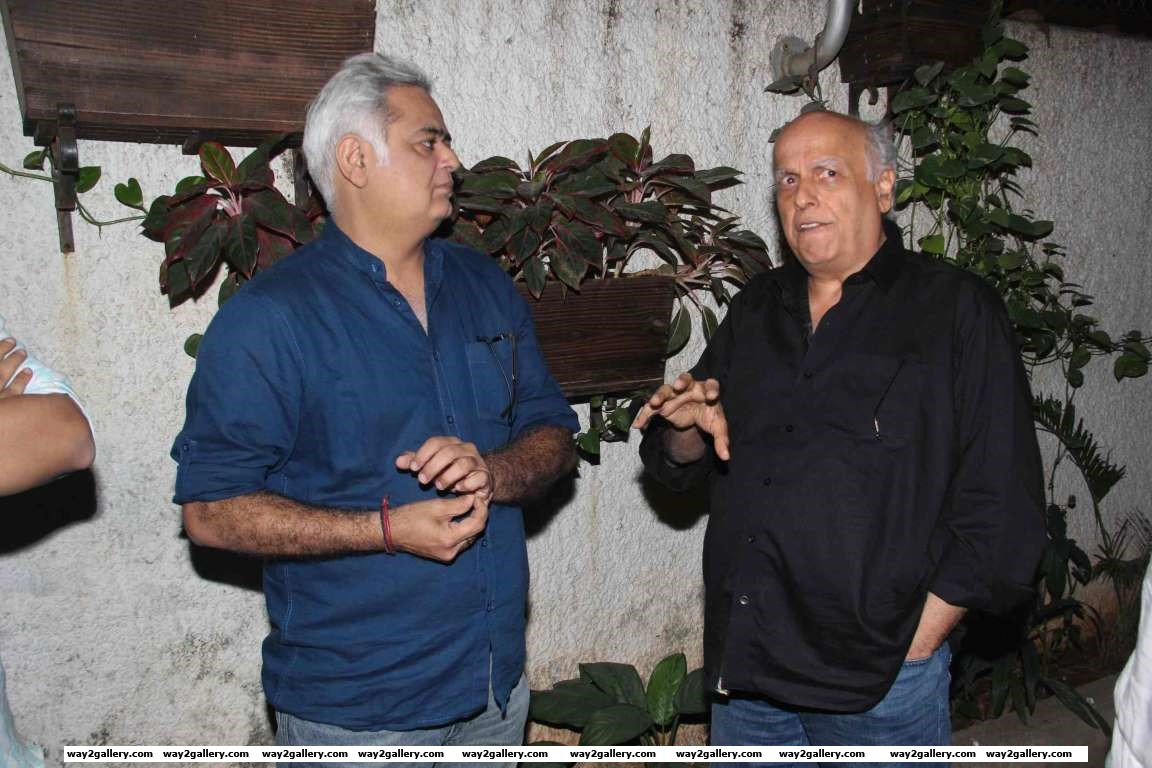 Mahesh Bhatt in conversation with Hansal Mehta during the screening of Aligarh