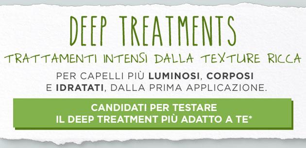 clicca qui per candidarti come tester del trattamento per capelli Deep Treatment Packs Biolage