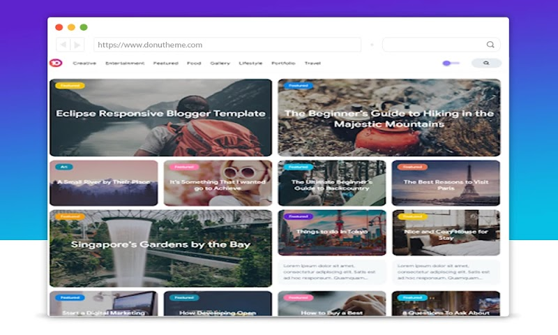 Eclipse Responsive Premium Blogger Template - Responsive Blogger Template