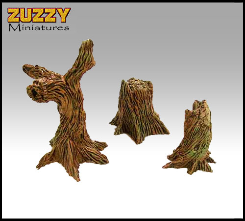ZUZZY Miniatures Store: The Ruined Land - Tree Stumps #1