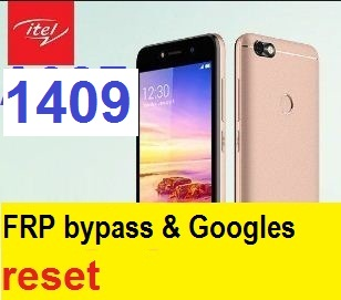 Itel 1409 FRP bypass and Google Account reset.