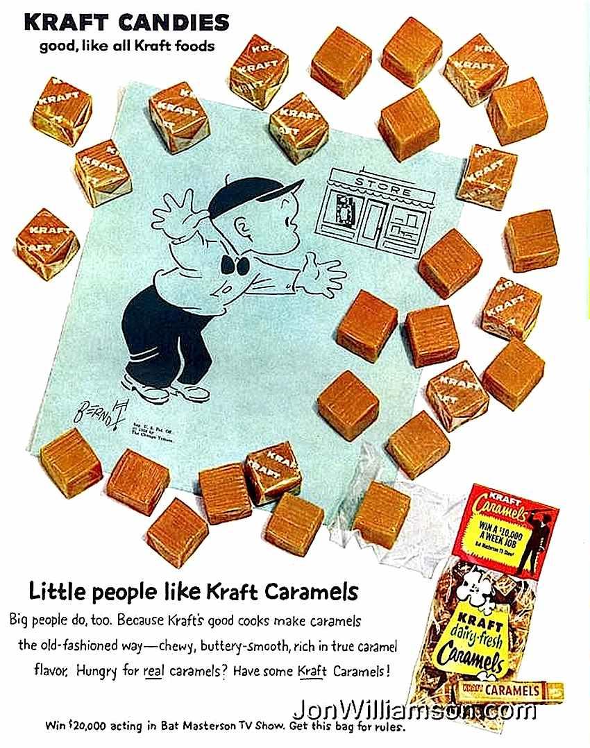 1960s Kraft Caramels ad