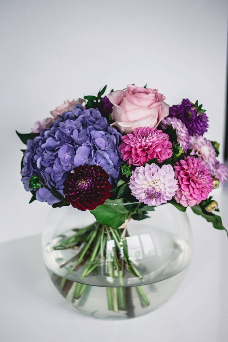Blumenstrauß frontal fotografiert