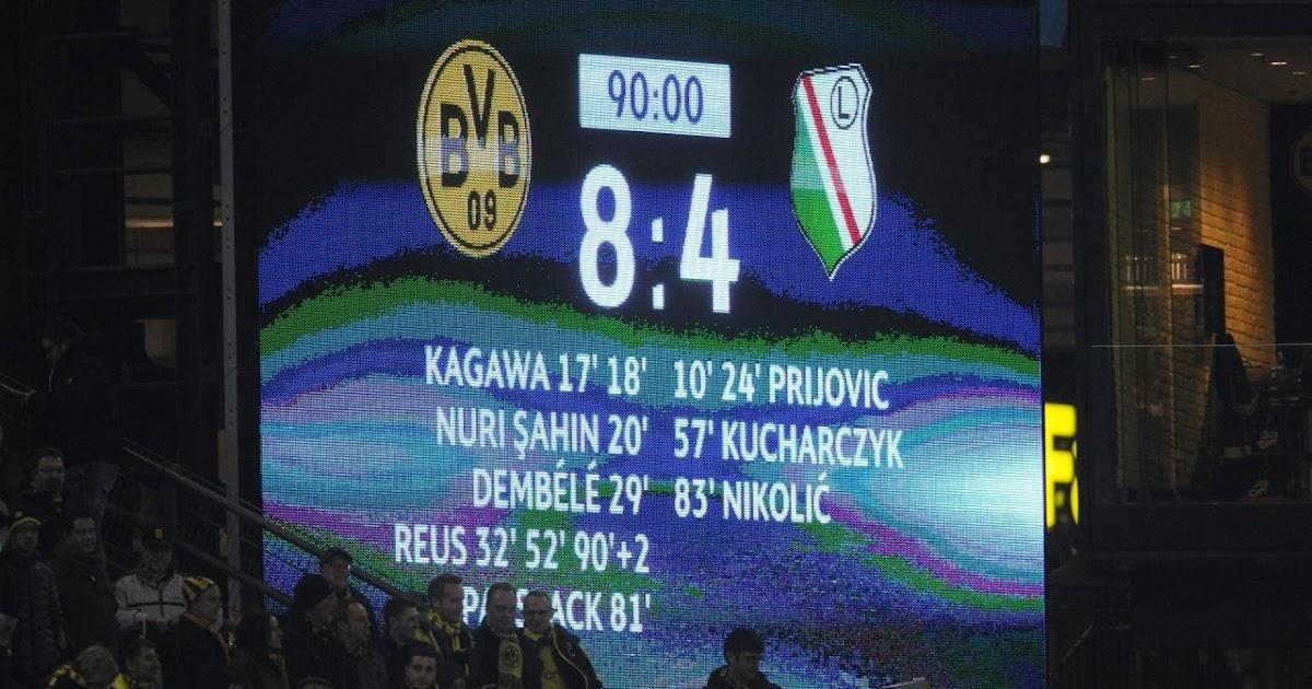 BVB-RUSSIA: «Боруссия» - «Легия» 8:4 (5-й тур Лиги Чемпионов 2016/17) |  Статистика и факты