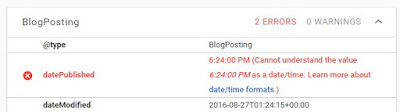 Mengatasi Error datePublished Structured Data Blogger Mengatasi Error datePublished Structured Data Blogger