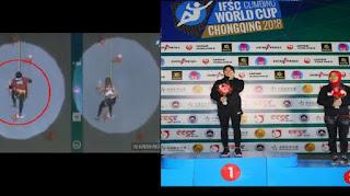 Video Detik-Detik Gadis Berjilbab Jadi Juara Dunia Panjat Tebing