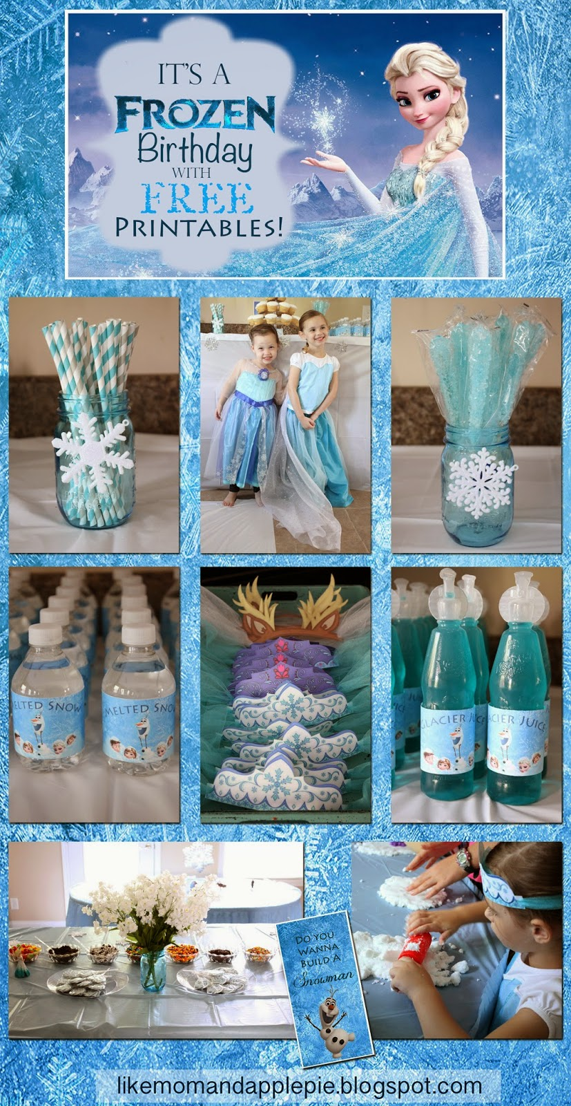 - Like Mom And Apple Pie: Frozen Birthday Party And FREE Printables!