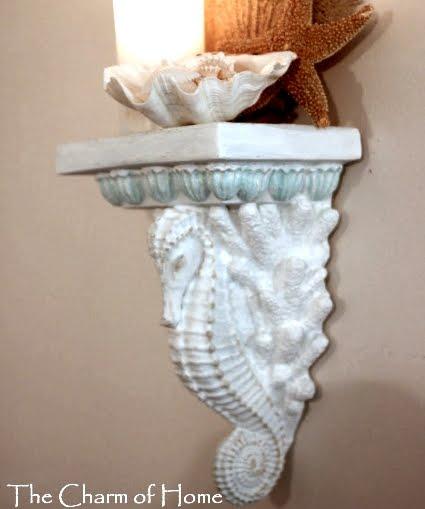 seahorse wall sconce shelf
