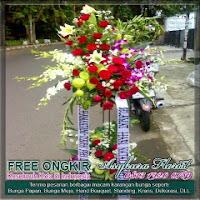 jual karangan bunga standing di bekasi