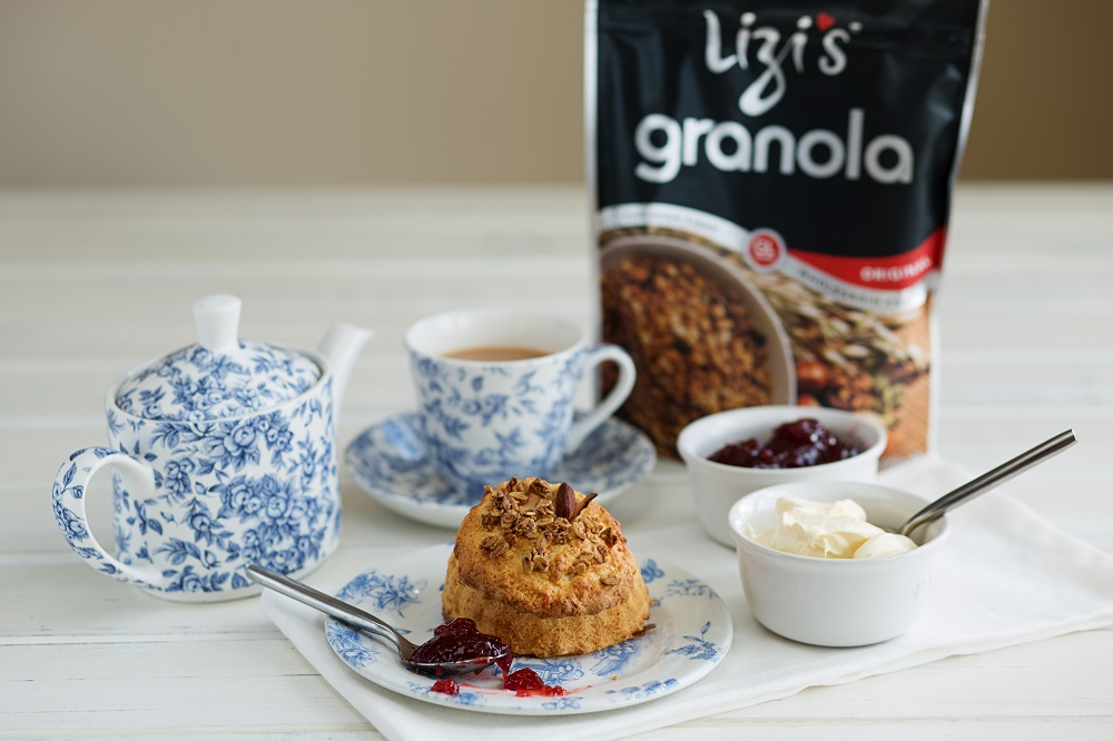 Lizi's Granola Strawberries And Cream Scones For St George's Day
