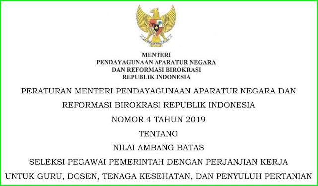 permenpan nomor 4 tahun 2019 nilai ambang batas pppk pdf